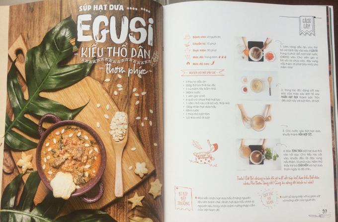 Các món ăn được giới thiệu chi tiết đến với độc giả cùng cách thực hiện.