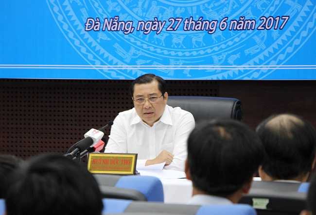 Chủ tịch UBND TP Đà NẵngHuỳnh Đức Thơ bị nhắn tin đe doạ tính mạng.