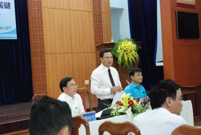 Phó chủ tịch UBND tỉnh QuảngNam chia sẻ thêm về côngtác chuẩn bị.