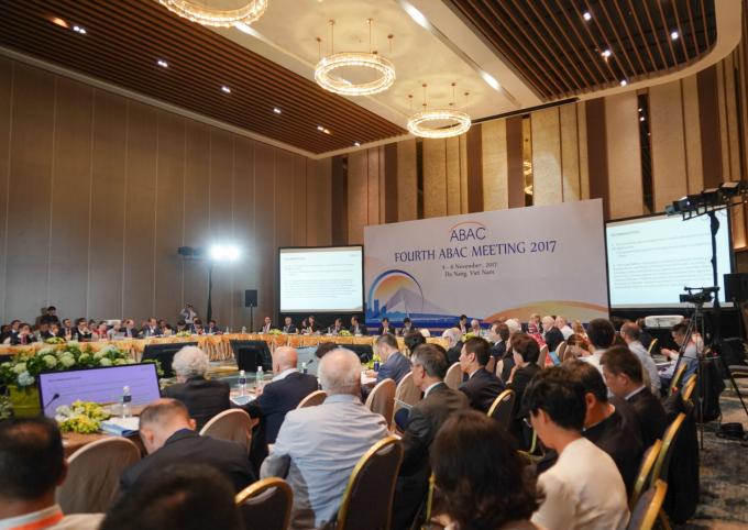 Quang cảnh hội nghị Hội đồng Tư vấn Kinh doanhABAC 2017.