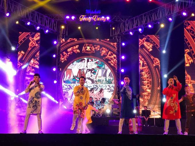 Chương trình nghệ thuật phục vụ nhân dân vào đêm Giaothừa do Nhà hát Trưng Vươngtối 30 Tết.
