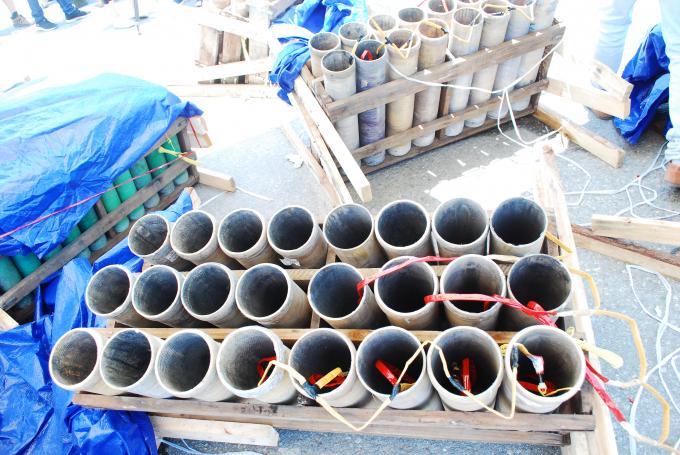 Các ống pháo được đánh số ký tự chính xác để bố trí đúngthứ tự pháo được mang từ Ba Lan sang.