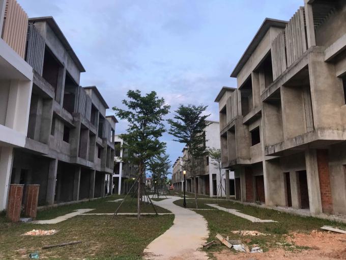 Nội khu của khu đô thị Eco Charm Đà Nẵng.