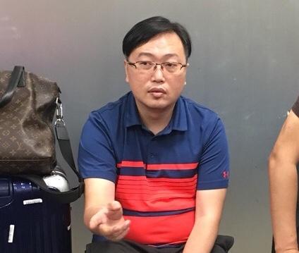 Đối tượng Ming bị bắt tại sân bay Đà Nẵng. Ảnh: CAĐN.