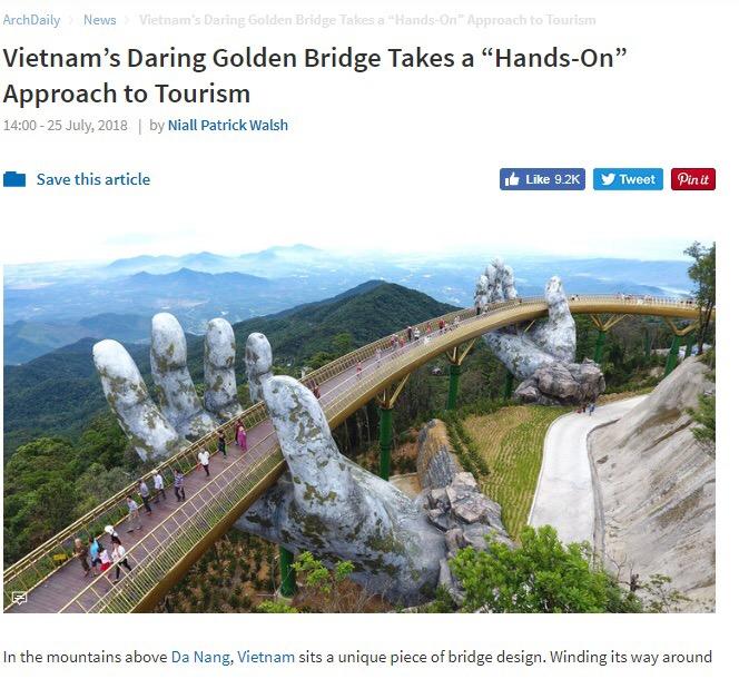 """Theo thống kê, video đầu tiên đăng hình ảnh Cầu Vàng đãhơn 19 triệu lượt xemvà ước tính hơn 80 triệu lượt người truy cập internet đã tiếp cận với từ khóa """"Golden Bridge Ba Na Hills""""."""