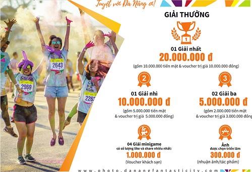 Cơ cấu giải thưởng hấp dẫn cuộc thi ảnh đẹp về du lịch Đà Nẵng.