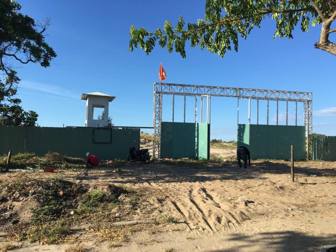 Nhiều dự án ven biển Điện Bàn đang trong tình trạng chậm triển khai.