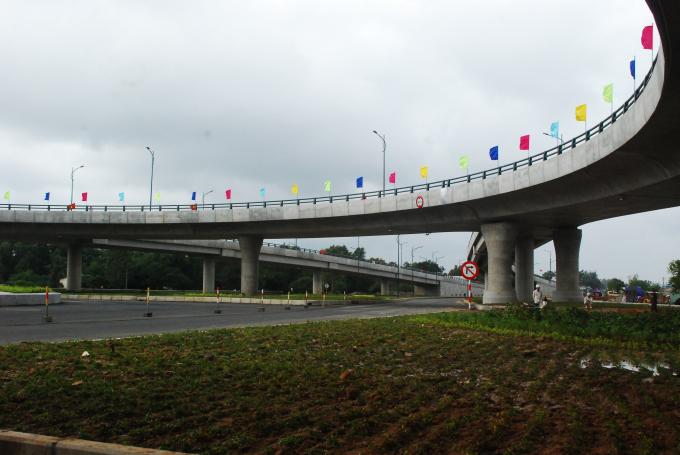 Nút giao vòng xuyến 2 tầng Chu Lai có tổng đầu tư 600 tỷ đồng.