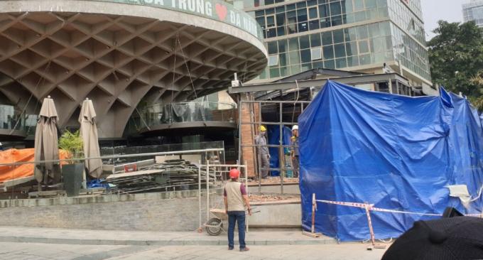 Cơ quan chức năng tháo dỡ công trình sai phép El Gaucho.