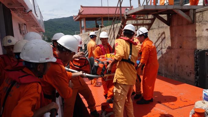 Bệnh nhân được đưa về đến Đà Nẵng an toàn