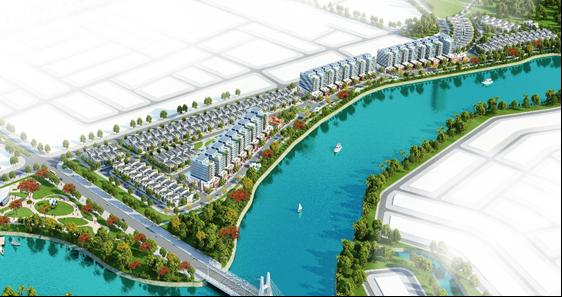 Hình minh họa: Dự án Mở rộng Khu đô thị ven sông Hòa Quý – Đồng Nò về phía Đông.