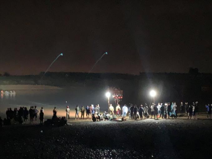 Vụ lật thuyền trên sông Vu Gia vào chiều 25/2 khiến 6 người dân thiệt mạng. Ảnh: baoquangnam.