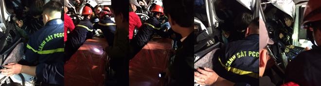 Phòng Cảnh sát Phòng cháy chữa cháy và cứu hộ cứu nạn Công an tỉnh Lào Cai giải cứu cho một nạn nhân.