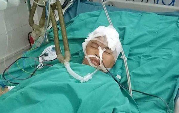Chị Hương đang cấp cứu trong tình trạng hôn mê sâu