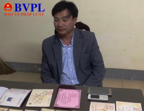 Đối tượng Nguyễn Kim Hồng tại cơ quan điều tra.