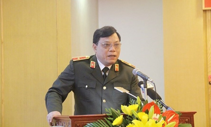 Thiếu tướng Nguyễn Hải Trungnói về tín dụng đen trong buổi họp HĐND tỉnh ngày 13/12 vừa qua.