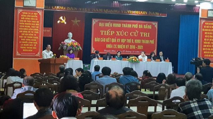Chủ tịch Đà Nẵng tiếp xúc cử tri quận Thanh Khê sáng nay