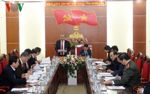 Phó Thủ tướng Trương Hòa Bình kiểm tra công tác phòng chống tham nhũng tại Lào Cai.