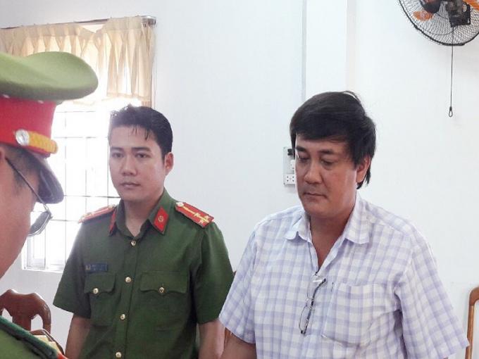 Ông Đỗ Minh Thống lúc bị bắt - Ảnh CTV.
