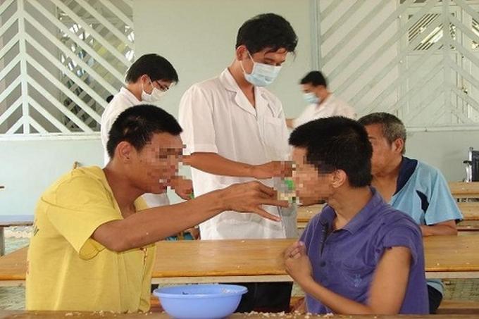 Bệnh nhân tâm thần đang được điều trị ở Trung tâm Tâm thần Tân Định