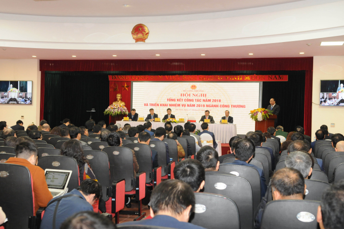 Tại Hội nghị trực tuyến tổng kết công tác năm 2018, triển khai nhiệm vụ năm 2019 của Bộ Công Thương.