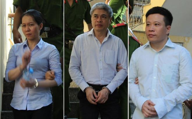 Ba cựu lãnh đạo của Oceanbank: Nguyễn Minh Thu, Nguyễn Xuân Sơn và Hà Văn Thắm.