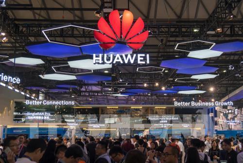 Một gian hàng của Huawei tại Hội nghị Di động thế giới ở Thượng Hải, Trung Quốc ngày 27/6/2018.