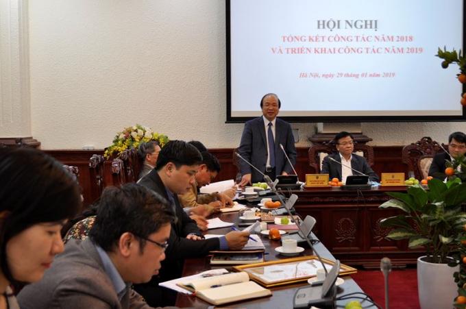 Thứ trưởng Phan Chí Hiếu phát biểu tại Hội nghị.
