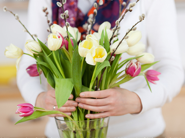 Trình bày và đặt hoa nơi thích hợp.