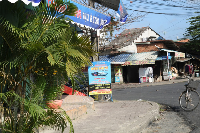 Một địa lý bán vé xe trên địa bàn TP.Tam Kỳ, tỉnh Quảng Nam.