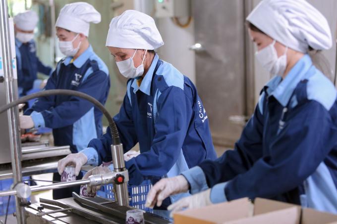 Dây chuyền chế biến sữa hiện đại của Hanamilk.