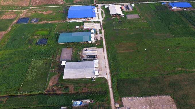 Khu vực trang trại và sản xuất của Hanamilk.