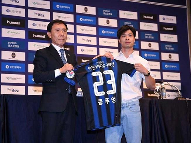 Công Phượng đã ra mắt CLB Incheon United.