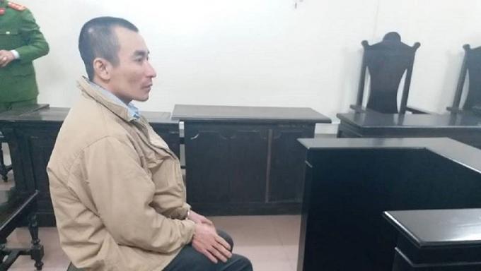 Bị cáo Ngô Văn Hùng tại tòa.