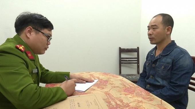 CAH Thường Tín lấy lời khai của đối tượng Đào Văn Trong cầm đầu vụ đánh bạc .