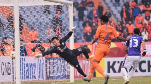 Hà Nội FC không có lực lượng tốt nhất ở trận gặp Shandong Luneng. (Ảnh: AFC)