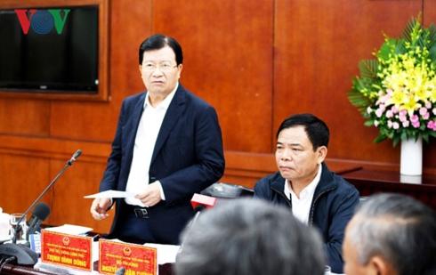 PTT Trịnh Đình Dũng triển khai quyết liệt các biện pháp ngăn chặn dịch tả lợn Châu Phi.