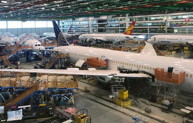 Một cơ sở sản xuất của Boeing tại South Carolina. Ảnh: Reuters