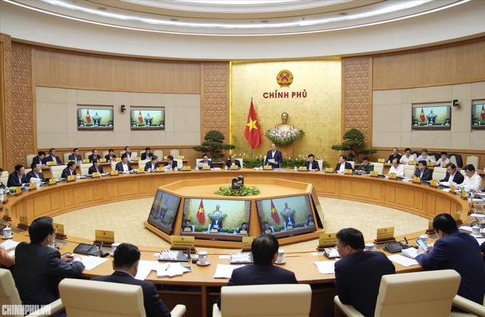 Phiên họp thường kỳ Chính phủ tháng 2. Ảnh: VGP