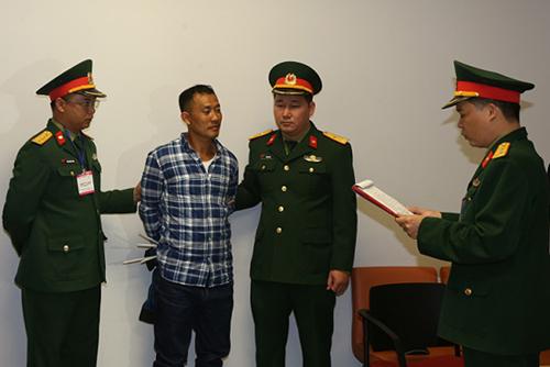 Cơ quan Điều tra hình sự Bộ Quốc phòng thông báo và tống đạt các quyết định tố tụng đối với bị can Lê Quang Hiếu Hùng.