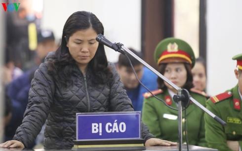 Bị cáo Lê Thị Lan Thanh - người duy nhất kêu oan trong phiên phúc thẩm.