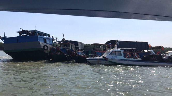 Khu vực tàu bị chìm.