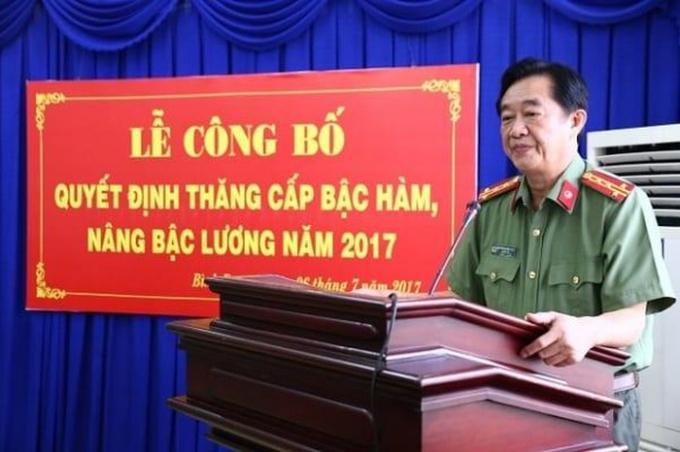 Ông Nguyễn Hoàng Thao được biết đến là cán bộ ngành công an dày dạn kinh nghiệm trong chỉ đạo tấn công, triệt phá các băng nhóm tội phạm lớn hoạt động ở vùng giáp ranh Bình Dương với Đồng Nai và TP. HCM. (ảnh: Công an Bình Dương)