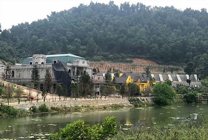 Công trình tổ hợp nghỉ dưỡng Hoàng Lê Gia Garden tại thôn Minh Tân, xã Minh Trí