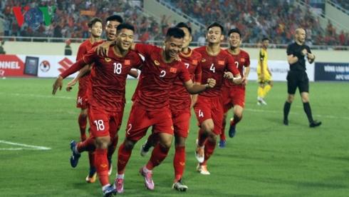 Hà Đức Chinh tìm lại sự tự tin với bàn thắng mở tỷ số. (Ảnh: Dương Thuật).