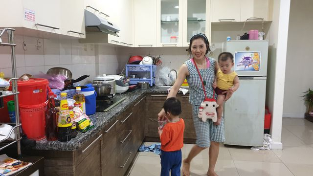Gia đình chịNguyễn Thị Trang căn hộ A1202 cho biết vẫn ám ảnh khi chuông báo cháy vang lên