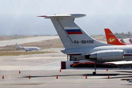 Máy bay quân sự của Nga đã hạ cánh ở Venezuela hồi cuối tuần vừa rồi.