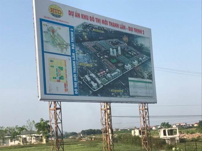 Dự án khu đô thị Thanh Lâm-Đại Thịnh 2 do Tổng công ty HUD làm chủ đầu tư bỏ hoang cả chục năm.