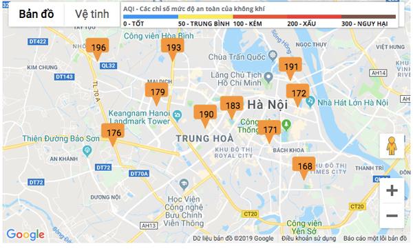 Chất lượng không khí những ngày qua ở Hà Nội luôn ở mức kém