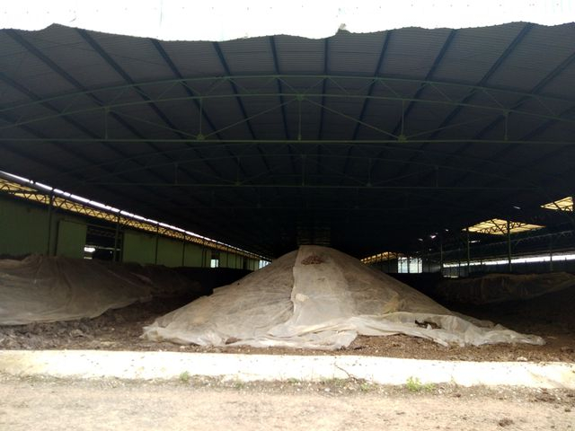 Thiếu vốn để duy trì hoạt động, nên các nhà chứa phân được bọc lót sơ sài, nguy cơ gây ô nhiễm rất cao.